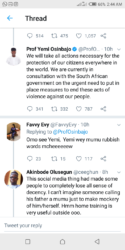 Prof Osinbajo React To The South Africa Issue As He Tweet On Twitter
