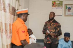 Gbenga Olaseeni was today showered with gift items, for his exceptional service in line of duty.